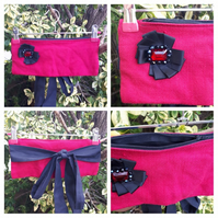 Stall holders, festival money belt, bumbag cherry red. Free uk delivery SALE