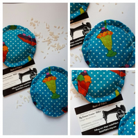 Hand warmers rice filled in turquoise polkadot fabric