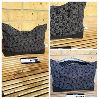 Storage bag,  case in black and white circles fabric.