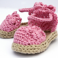 Baby Girl Sandals, 6-12 Months, Baby Espadrille Sandals - Made to Order