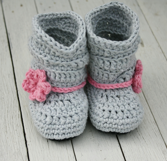 6-12 Months Baby Girl Boots, Slouch Boots - MADE to ORDER