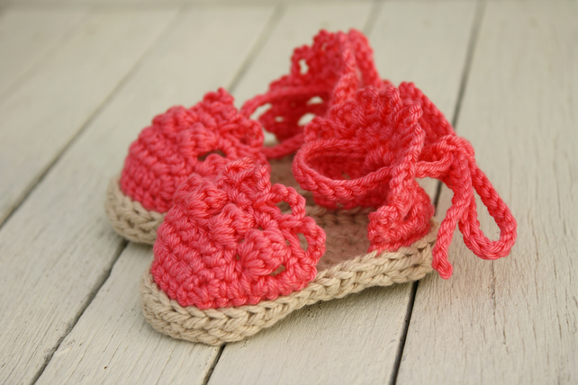 6-12 Months, Baby Girl Sandals, Infant Espadrille Sandals - Made to Order