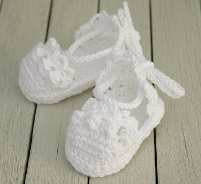 Newborn Baby Shoes, Girl Sandals, Crochet Espadrille Sandals - Made to Order