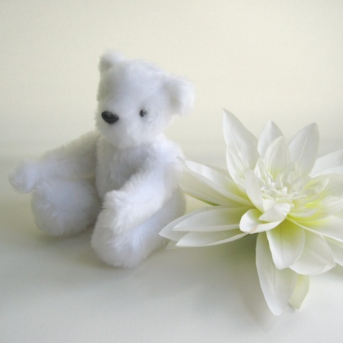 Handmade Bear - Snowball Jointed Small Bear