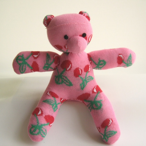 Handmade Bear - Mini Cherry Pop Sock Bear