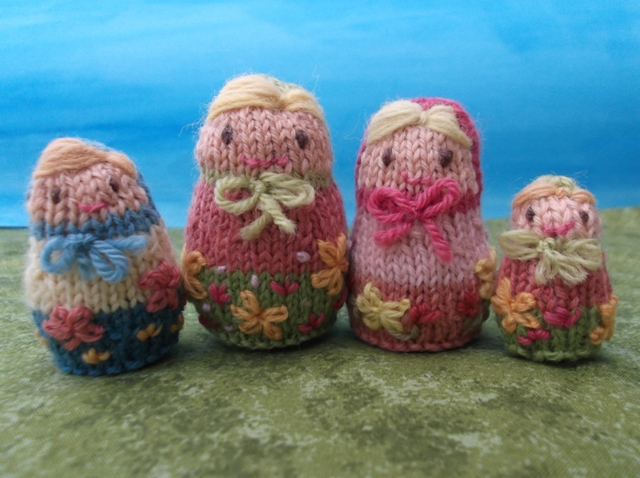 Knitting Pattern Russian Doll : Knitted Russian dolls, Matryoshka - Folksy