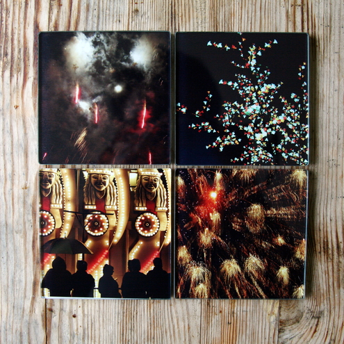 Set of 4 Glass Coasters -Light Up The Sky