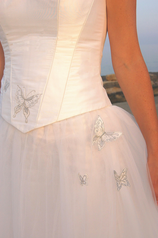 Butterfly wedding dress folksy Wedding dress butterfly design