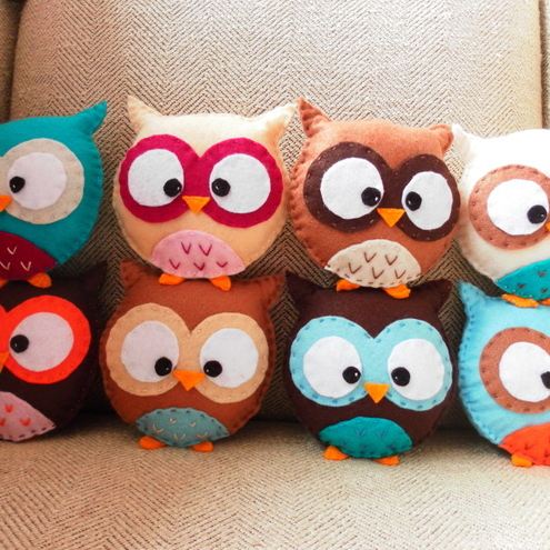 Custom mini plush owl