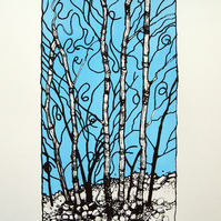 Winter Knotweed - Screenprint