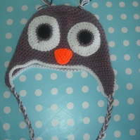 Crochet hat - cute owl hat