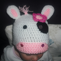Crochet hat - cute cow hat