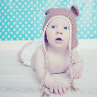 Crochet hat - cute ear flap bear hat