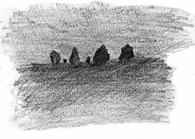 Standing Stones 1 - open edition digital print from original drawing