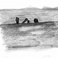 Standing Stones 2 - open edition digital print from original drawing