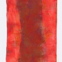 Not Rothko! - monoprint made with acrylics on paper