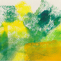 Fresh Spring no 2 - acrylic painting on paper