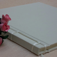 Guest Book in Ivory Linen