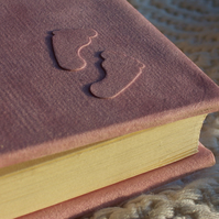 23 x 22.5cm Personalised Baby Album in Pink Suede