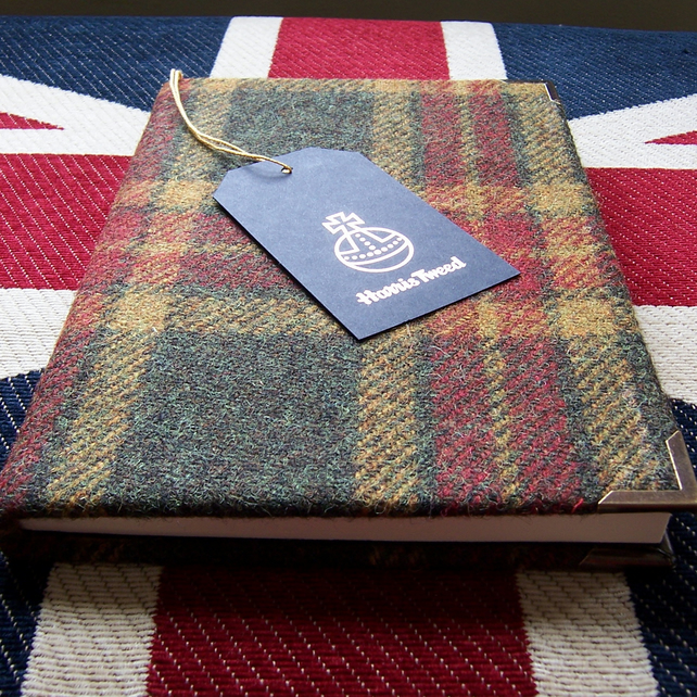 a5 russet tweed journal - lined - personalise it!
