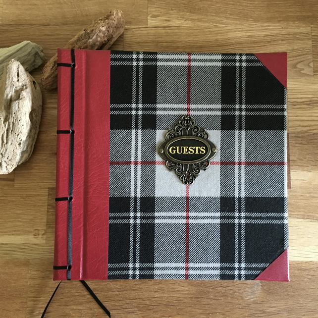 tartan & leather guestbook