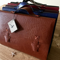 medium leather satchel journal - a5