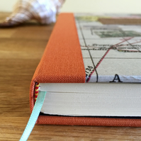 customised map covered travel journal - personalise it!