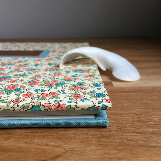vintage style flowers guest book - 21cm square - personalise it!
