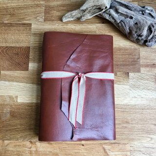 natural cut rustic leather wraparound journal - a5 - personalise it