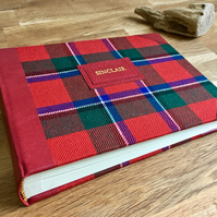 medium tartan photo album - personalise it
