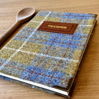 lined a5 mustard tweed recipe journal - personalise it!