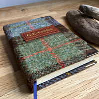 lined a5 macleod tweed journal - personalise it!