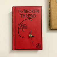 the broken thread book clock