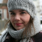 Knitted Hat in Grey Aran Wool