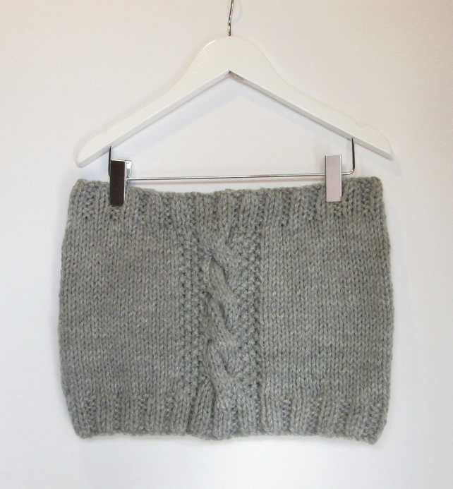 Cowl in Grey Chunky Wool