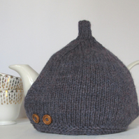Tea Cosy in Purple Heather Aran Wool