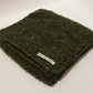 Forest Green Aran Tweed Pure Wool Scarf - Mens