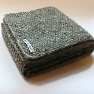 Grey Aran Tweed Pure Wool Scarf - Mens