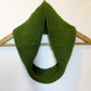 Cowl Infinity Scarf in Olive Green Alpaca Wool