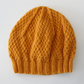 Beanie Hat in Mustard Aran Wool