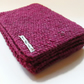 Scarf in Cerise Pink Aran Tweed Wool