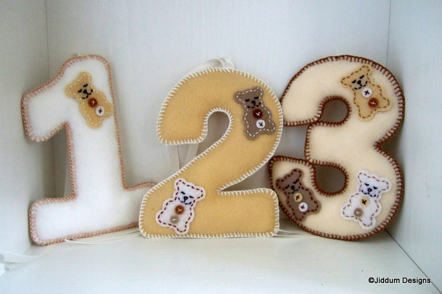 Handmade baby teddy bear nursery decorations folksy