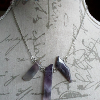Large Amethyst Shard Necklace
