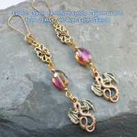 Golden Dragon Earrings ... Candy Sparkle