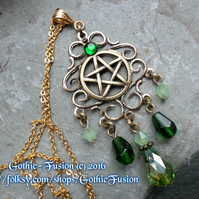 Vintage Pentacle Victoriana Pendant Necklace