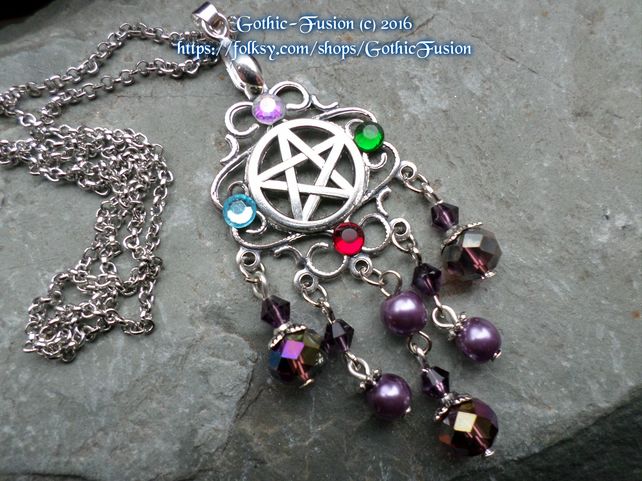Pentacle Elements Victoriana Beaded Necklace
