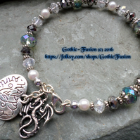 Gorgeous Crystal DRAGON HAPPY ANNIVERSARY Bracelet for All Occasions