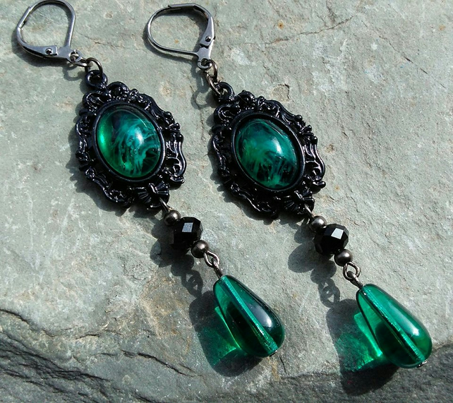 Absinthe Dreams Victorian Gothic Earrings