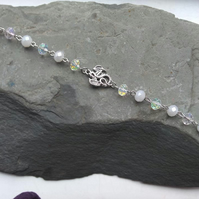 Dragon Bracelet with Aurora and Ice White Bead Links