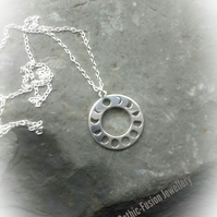 Lunar Moon Sterling Silver Necklace